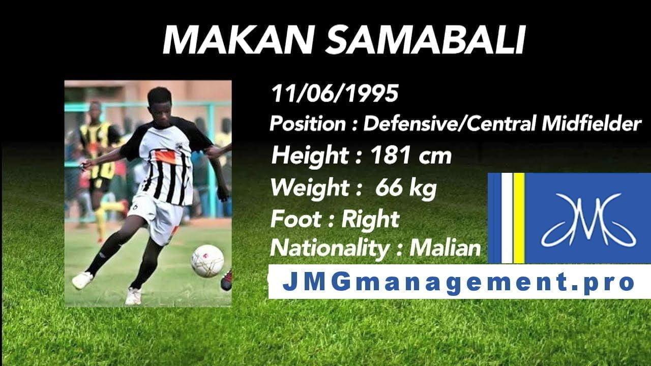 Jmg football management Makan Sambali from Jmg academy Mali