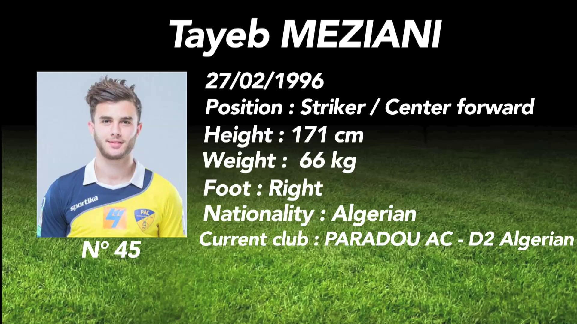 Tayeb Meziani JMG Academy Paradou AC D1 Algerian