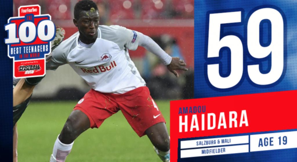 Amadou Haidara Doudou top 100 young player in the world jmg mali academy