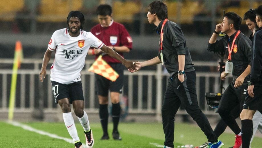 gervinho from ivory cost jmg academy with Hebei China