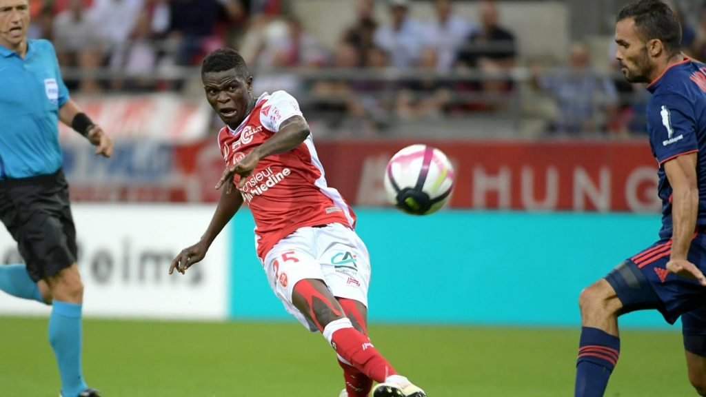 Moussa Doumbia jmg academy mali with Reims 2