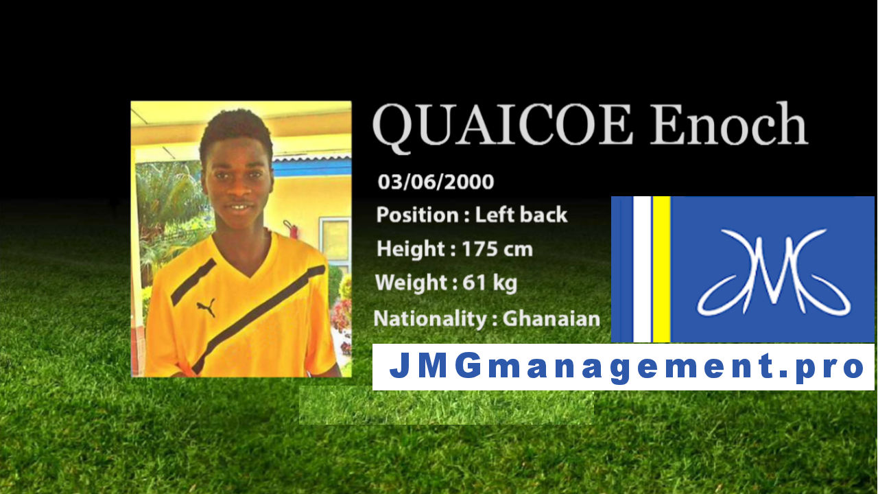 QUAICOE Enoch from Jmg academy Mali