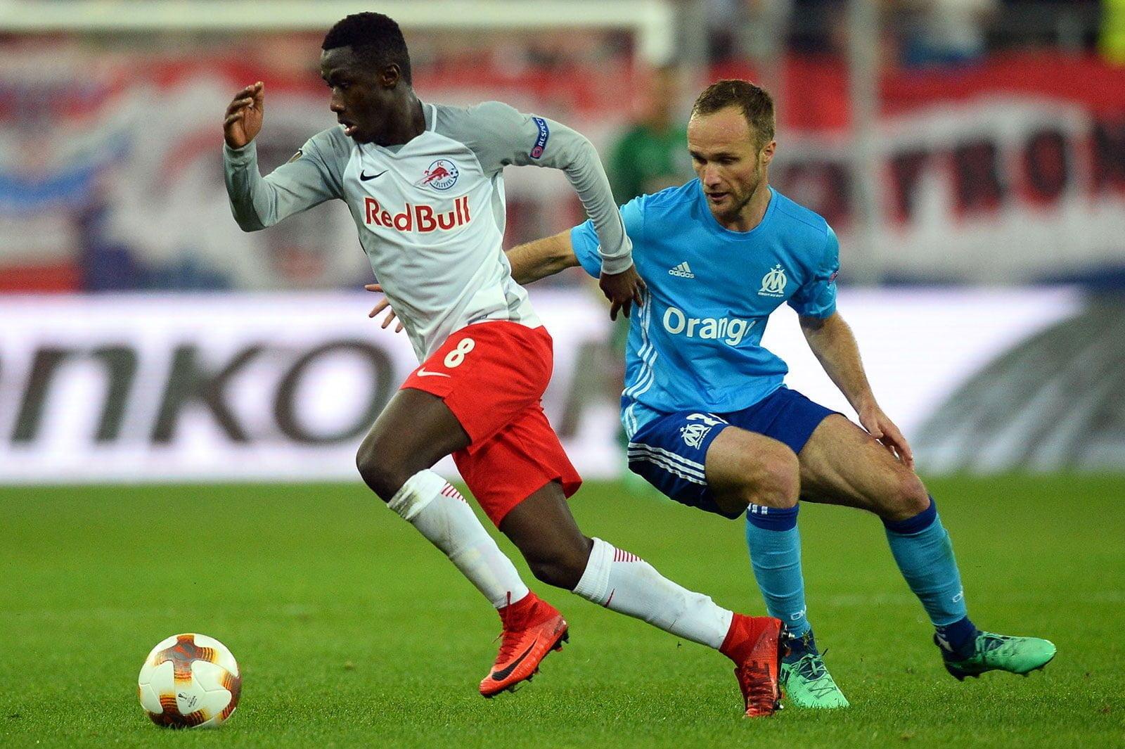 Samassekou and Olympique de Marseilles from Red Bulls Salzbourg jmg football management