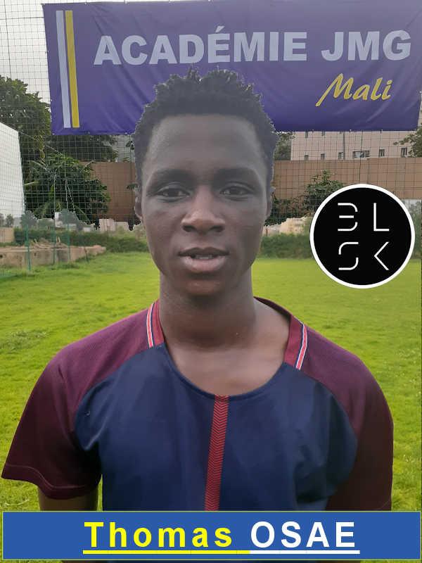 Thomas Osae Jmg academician from Mali academy agent BlackSkill l